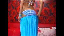 Stunning gf shows her big natural breasts on cam