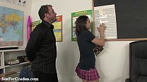 Slutty Schoolgirl Fucks 2 Teachers After Class! - download porn videos