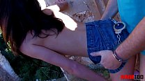 www.sex vedio.in ~ Skinny latina babe dominating older guy and gettting fucked in the ass thumbnail