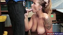Big tits shoplifter fucked by LP officer صورة