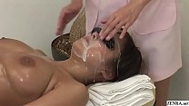 JAV full body bizarre cum facial massage clinic...