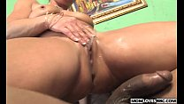 Kelly Leigh takes a BBC in front of her son