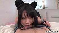Japanese amateur cock teaser, Rinako gives a POV blowjob, uncensored