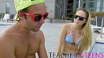 Teacher seduces student cock and young girlfriends Image