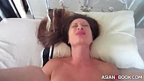 ASIAN BABE RIDES AND GETS CREAMPIED pornhub video