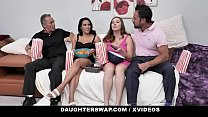 DaughterSwap - Cute Bisexual Teens (Adrian Hush) (Stephie Starr) Get Fucked Together By Stepdads