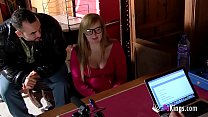 Blonde college girl is looking for a waitress o... Thumbnail