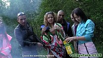 Three college chicks jizzed on tits outdoor • czechfantasy thumbnail