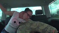 Highway Threesome Mea Melone & Wendy Moon fuck & eat while Driving thumbnail