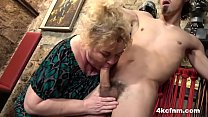 Mature BBW Tortures Young Slave in the Basement Thumbnail