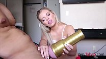 Blonde Teen SISTER helps BROTHER get off- Trisha Parks thumbnail