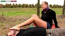 The Voyeur Ep1 - Barefoot Licking Outdoor