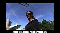 Sexy ebony babe Isabella trades sex for cash in a public park preview image