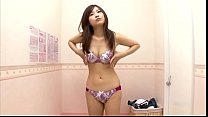 Cute Japanese babe trying new bra - alice green anal thumbnail
