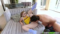 Small and tricky Laney Grey let the stud plow her tiny snatch aggressively صورة