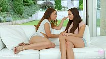 Teressa Bizarre and Sophie Rose in Orgasmic brunettes lesbian scene by SapphiX