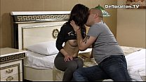 Brunette cutie sucks and being fucked for the first time صورة