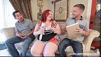 Sexy BBW Ellza Allure Gets DP'ed by 2 Huge Cocks Thumbnail