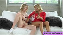 Alexis Fawx and Chloe Couture enjoyed fondling each twats