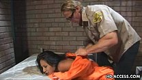 Prison bitch gets hard anal drilling from the s...