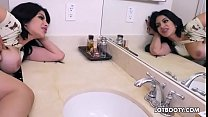 Big ass busty brunette latina cheating wife Kitty Caprice & tamil wab thumbnail