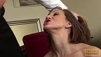 Roughly dicked UK wench receives a big facial from master thumbnail