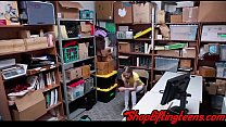 Tiny teen thief gives head and gets fucked by security guard pornhub video
