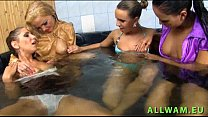 Eurobabes chilling in the jacuzzi