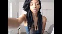 Ebony Show With Huge Dildo Part2 On