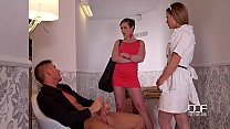 DDF Network Horny maid and wife drain a Husband... thumb