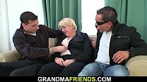 Boozed blonde granny picked up for DP