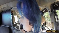 Slutty blue haired lover gets another dick after a rough sex
