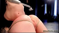 Babe in device bondage ass flogged and pussy strap on fucked thumbnail