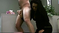 Lady boss handjobs employee only for his cum preview image