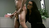 lady boss handjobs employee only for his cum: big booty white girl thumbnail