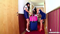 Crazy Hot Spanish Stewardess Sex with Lorena & Alexa Tomas