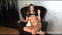 Brunette sofa squirt video