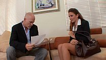 Lucky CEO with massive rod fills up his young s...