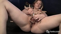 Yanks Minx Lili Sparks Plays With Clothespins video