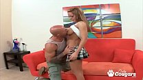 Megan Monroe Lifts Her Skirt & Rides Some Dick