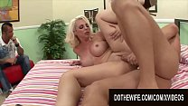 (apte sex video) Plowing Blonde Wives While Their Cuckolds Watch Compilation 7 thumbnail
