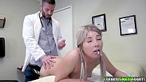 Vienna Rose flips over and lets him plug her with his cock! thumbnail