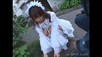 Innocent Japanese teen maid disgraced by older man Thumbnail