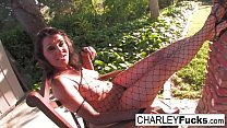 Charley Chase gets her fuck on out by her pool's Thumb