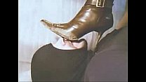 Licking clean my Wife's dirty boots 2 video