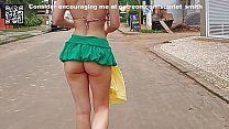 Mini Skirt Without Panties On The Street