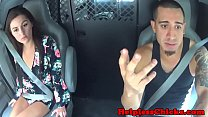 Petite teen dominated by fat cock in the van preview image