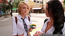 ExxxtraSmall Petite redhead and latina teens on a threesome's Thumb