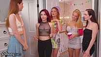 GIRLSWAY Lesbian Virgin 3Way with Redhead Step-Sister B4 College thumbnail