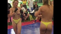 Topless women fight thumbnail